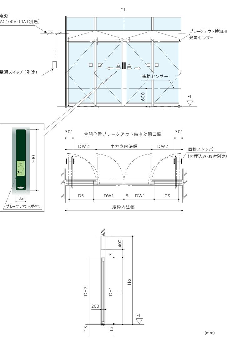 BO-11 ワイドオープンドア(ブレイクアウト機能付)画像1