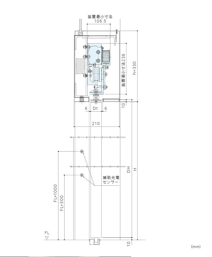 DSN-250型 引き戸開閉装置画像3