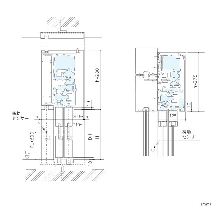 二重引き戸開閉装置 (DS-75/150)画像2