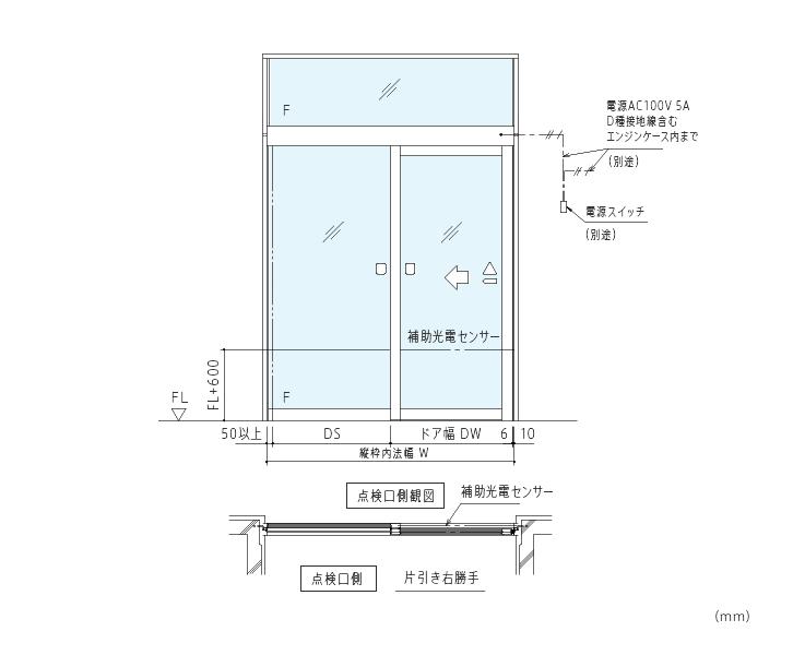 アルミニウム合金製防火設備用自動ドア画像2