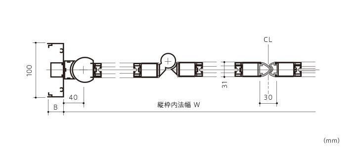 ミニフォールド/ミニフォールドα(アルミサッシ仕様)画像2